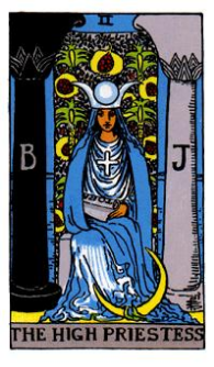 Marsailles Deck - Major Arcana - 2: The High Priestess