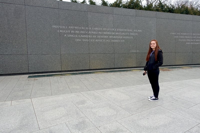 Visiting Dr. Martin Luther King Jr. Memorial 1