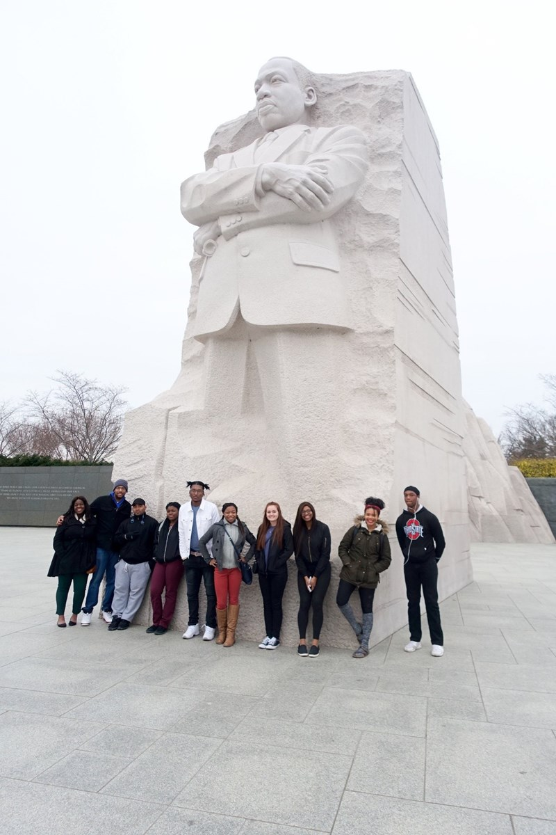 Visiting Dr. Martin Luther King Jr. Memorial 2