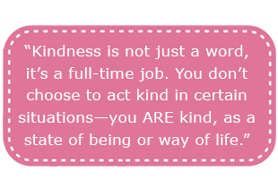 Tori talks about Kindness and Compassion