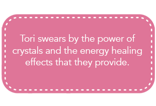 Tori Spelling believes in the power of crystals and the energy healing they provide.