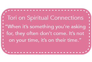 Tori Spelling on Spiritual Connections