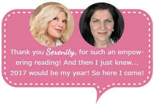 Tori Spelling reading with Psychic Serenity extension 9213