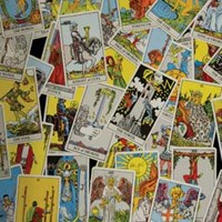 Tarot Cards on Floor